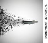 bullet shot smashed the glass...   Shutterstock .eps vector #323935076