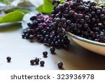 Black Elderberries  Sambucus...