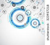 abstract digital communication... | Shutterstock .eps vector #323937218
