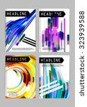 flyer  cover  business card... | Shutterstock .eps vector #323939588