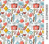 medical seamless pattern. hand... | Shutterstock .eps vector #323940800