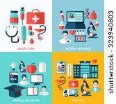 medical flat vector... | Shutterstock .eps vector #323940803