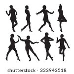 silhouette of a dancing woman...