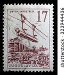 yugoslavia   circa 1958  a... | Shutterstock . vector #323944436