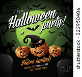 Halloween Party Invite Pumpkins ...