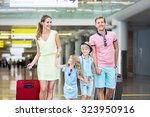 family with children at the... | Shutterstock . vector #323950916