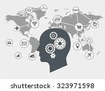 internet of things and thinking ... | Shutterstock .eps vector #323971598