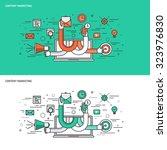 thin line flat design concept...   Shutterstock .eps vector #323976830