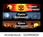 abstract multiple halloween... | Shutterstock .eps vector #323983820