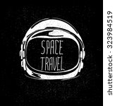 abstract astronaut helmet to... | Shutterstock .eps vector #323984519
