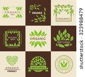 eco organic labels big set... | Shutterstock .eps vector #323988479