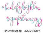 handwritten brush pen colorful...   Shutterstock .eps vector #323995394