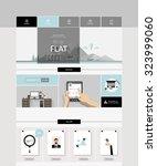 website design in flat style....