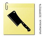 meat cleaver knife    vector... | Shutterstock .eps vector #323999276