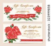 gift certificate  voucher ...   Shutterstock .eps vector #323999858