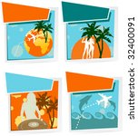 four summer vacation icons | Shutterstock .eps vector #32400091