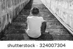 scared and alone  young... | Shutterstock . vector #324007304