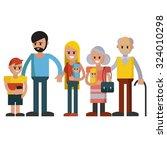 big happy family . vector... | Shutterstock .eps vector #324010298