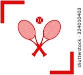 tennis rackets with ball vector ... | Shutterstock .eps vector #324010403