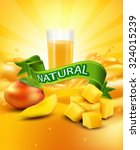 vector background with mango  a ... | Shutterstock .eps vector #324015239