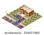 vector isometric icon or... | Shutterstock .eps vector #324017483