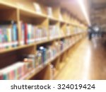 blur school library with book... | Shutterstock . vector #324019424