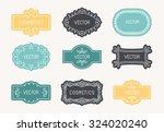 vector set of linear design... | Shutterstock .eps vector #324020240