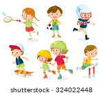 sport for kids including... | Shutterstock .eps vector #324022448