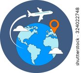 travel  destination concept.... | Shutterstock .eps vector #324022748