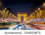 avenue des champs elysees with... | Shutterstock . vector #324023873