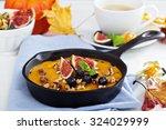 healthy pumpkin baked oatmeal... | Shutterstock . vector #324029999