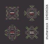 set of christmas postcard... | Shutterstock .eps vector #324030266