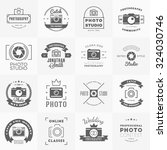 vector set of photography logo... | Shutterstock .eps vector #324030746