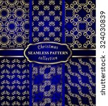 christmas seamless pattern... | Shutterstock .eps vector #324030839
