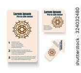 brochures design for social...   Shutterstock .eps vector #324032480