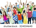 group of people community... | Shutterstock . vector #324034640