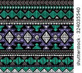 neon color tribal navajo... | Shutterstock .eps vector #324035540
