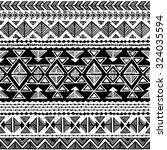 black and white tribal navajo... | Shutterstock .eps vector #324035594