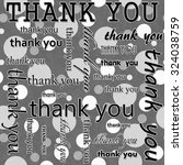 thank you design with gray and... | Shutterstock . vector #324038759