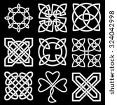 collection of celtic knots for... | Shutterstock .eps vector #324042998