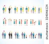 vector family design set | Shutterstock .eps vector #324046124