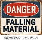 danger falling material  ... | Shutterstock .eps vector #324049364