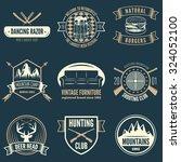 retro vintage insignias set ... | Shutterstock .eps vector #324052100