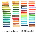 color stripes drawn with...