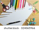 paper on school and frame of... | Shutterstock . vector #324065966