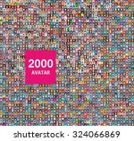 set of 2000 color diferent... | Shutterstock .eps vector #324066869