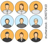 nine human avatars. five male ... | Shutterstock . vector #324072410