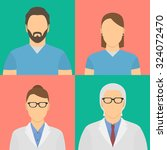 four medical workers avatars.... | Shutterstock . vector #324072470