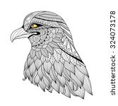Detail Zentangle Eagle For...