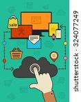flat design trendy cloud... | Shutterstock .eps vector #324077249